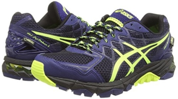 Asics Gel-fujitrabuco 4 G-tx, Herren Traillaufschuhe, Schwarz (black/flash Yellow/indigo Blue 9007), 43.5 EU - 5