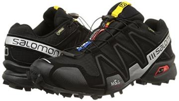 Salomon Speedcross 3 GTX, Herren Traillaufschuhe, Schwarz (Black/Black/Silver  Metallic-X), 44 EU (9.5 Herren UK) - 5